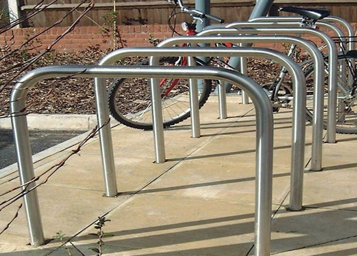 Ervine Stainless Base Fixed Steel Cycle Storage
