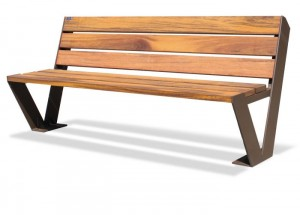 Wisbech Stainless Steel Frame Hardwood Seat