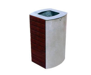 Canton Steel/Tropical Wood Bin