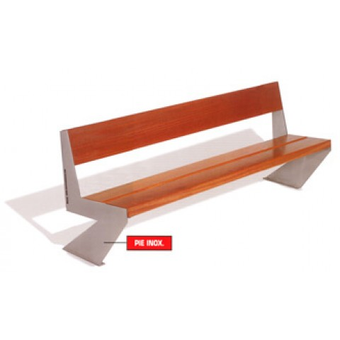 Zed Polished Stainless Guinea Wood Seat