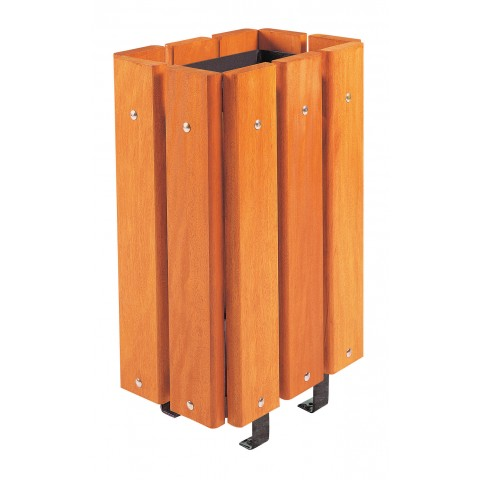 Roseberg Without Lid Stained Hardwood Bin