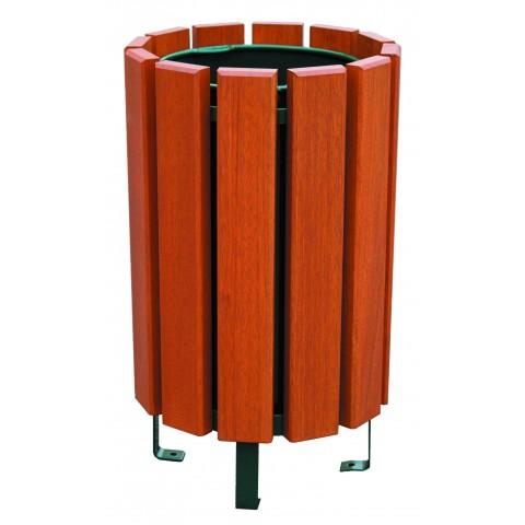 Tulare Varnished Pine Steel Bin