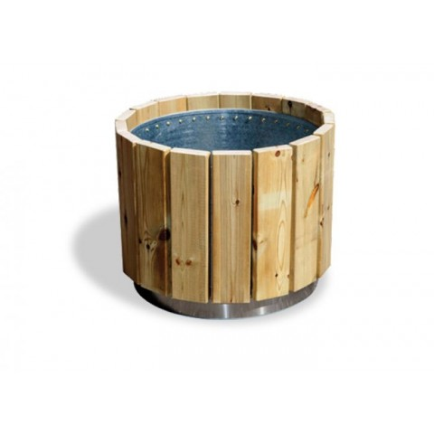 Dalen Pine Galvanised Steel Planter