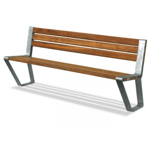Mono Seat Stainless Steel/Hardwood Seat