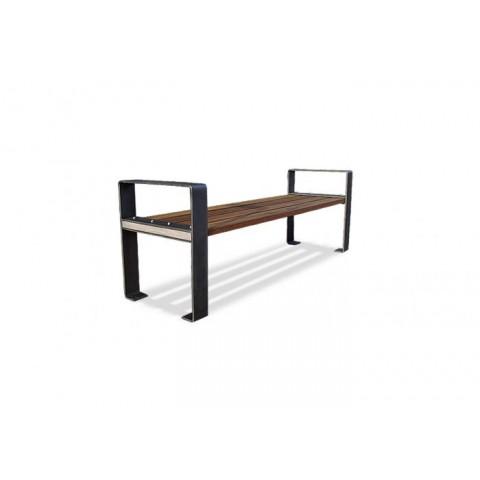 Danby Stainless Steel Frame Hardwood Bench