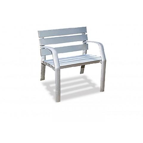 Monteray Silver Anodised Aluminium Seat