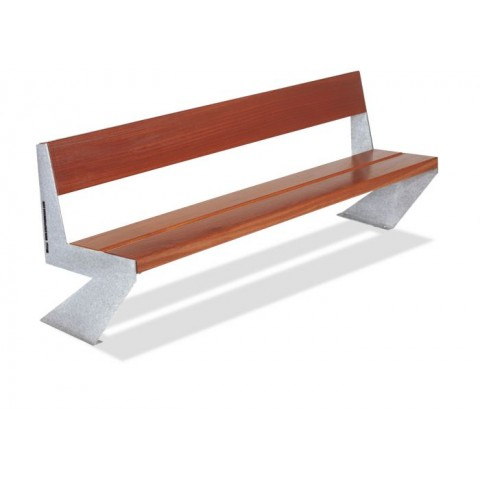 Zed Galvanised Guinea Wood Seat