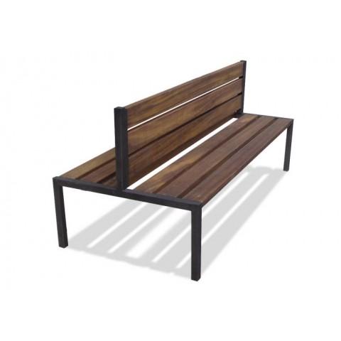 Sherburn Rust Effect Frame Hardwood Seat