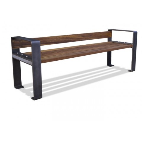 Danby Rust Effect Frame Hardwood Seat