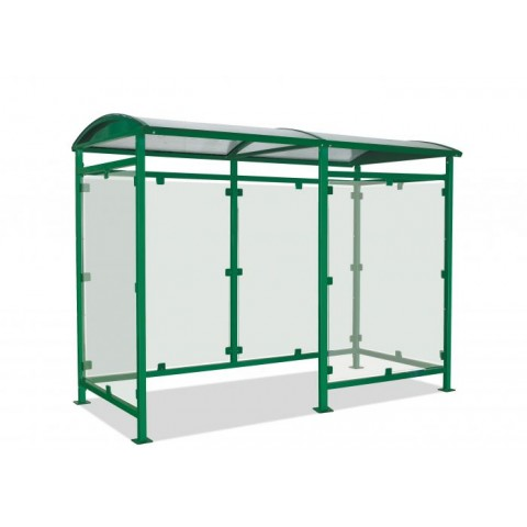 Gresham Smoking Shelter Left Hand Entrance Steel Shelter