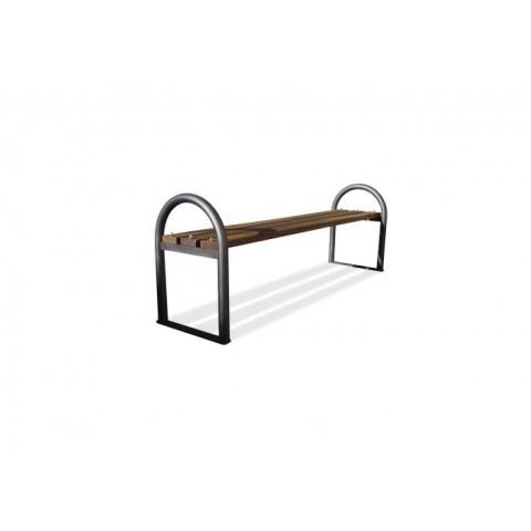Ellon Grey Frame Hardwood Bench