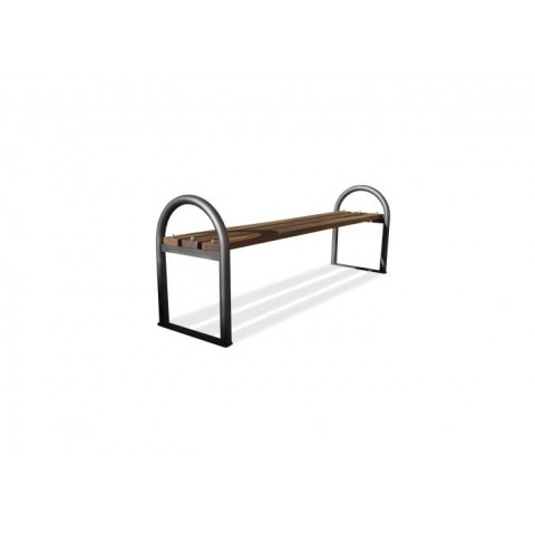 Ellon Black Frame Hardwood Bench