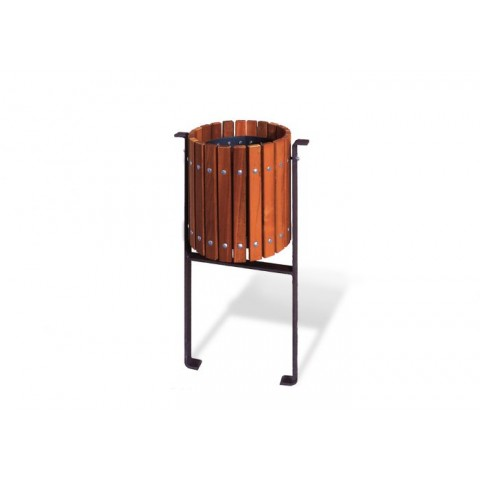 Rougemont Tropical Wood Bin