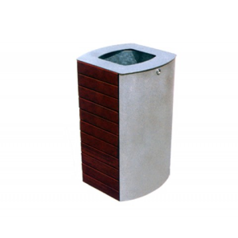 Canton Steel/Tropical Wood Bin